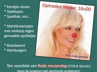12 September – Optreden tvv Rode Neuzen dagLocatie: Polyvalente zaal Voortkapel (Stijn Streuvelsstraat) Aanvang: 14u