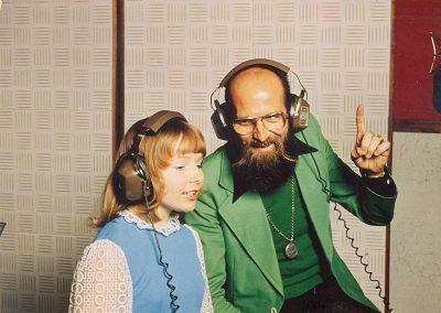 Mieke met Pierre Kartner in studio