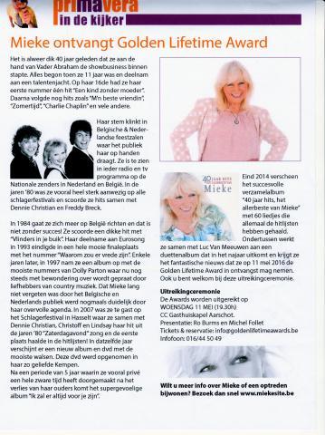 Artikel in Primavera magazine