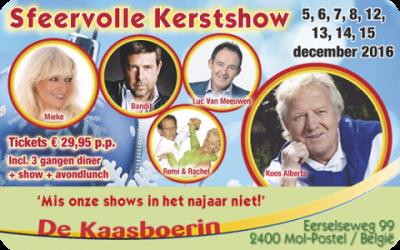 Sfeervolle kerstshow in de Kaasboerin