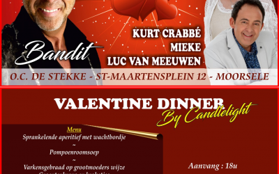 Valentine by candlelight (10 feb. 2018)